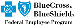 Logo for BlueCross BlueShield Federal Dental Insurance accepted at Cary NC pediatric dentist